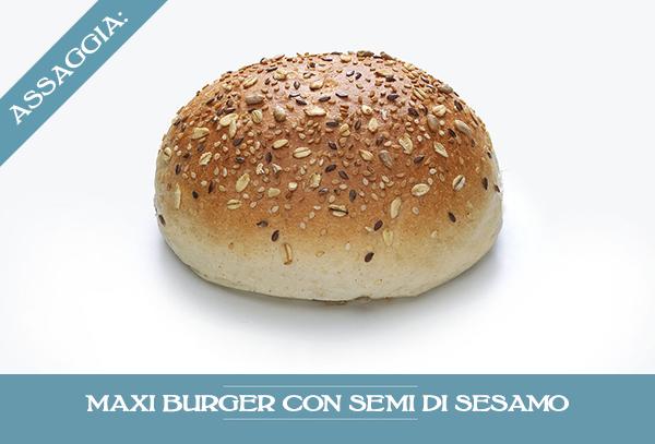Maxi Burger Con Semi Sesamo